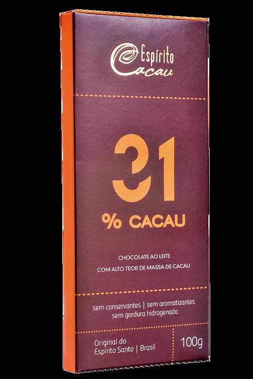 CHOCOLATE COM 31% DE CACAU - Espírito Cacau