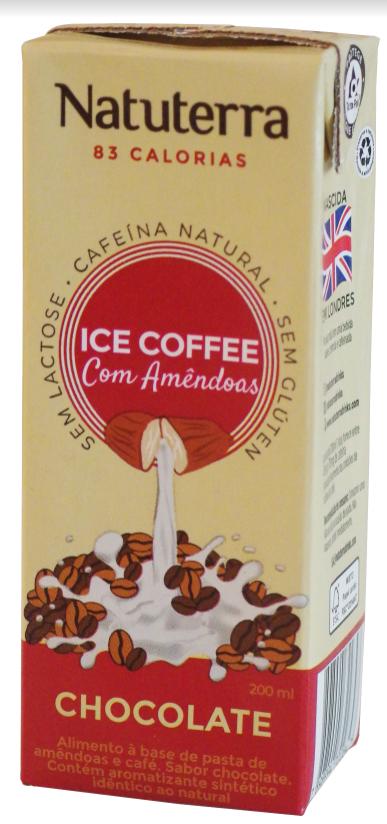 Ice Coffe com Amêndoas - Sabor Chocolate - Natuterra Drinks