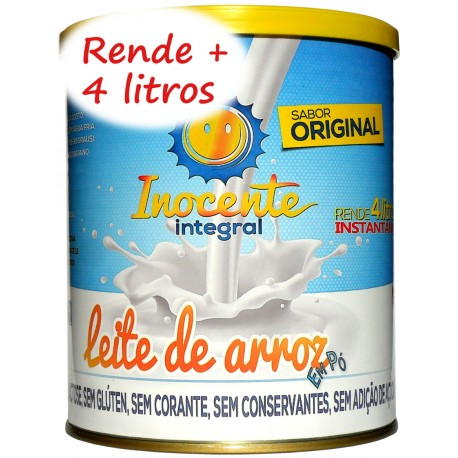 Leite de Arroz Em Pó Integral Original - Inocente Leite sem Lactose