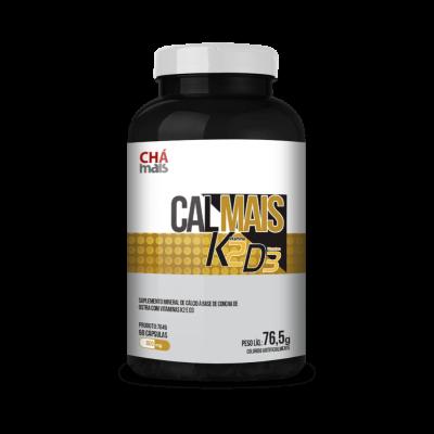 Calmais Vitamina K2,D3 - Chá Mais - 90 Cápsulas 76,5g