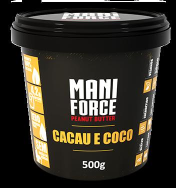 Pasta de Amendoim Cacau e Côco - Maniforce