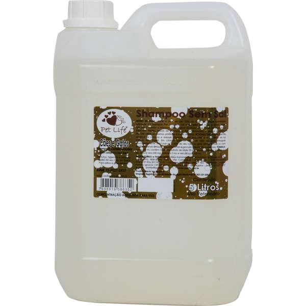 Shampoo Sem sal Pet life para Cães e Gatos - 5 Litros