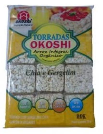 Torradas Okoshi Arroz integral Chia e Gergelim - Okoshi