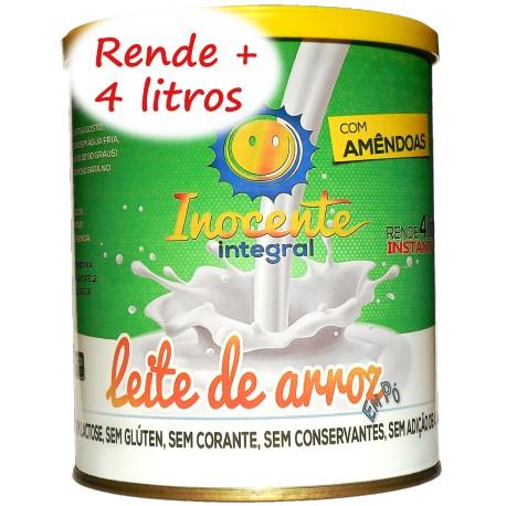 Leite de Arroz Em Pó Integral com Amendoas - Inocente Leite sem Lactose