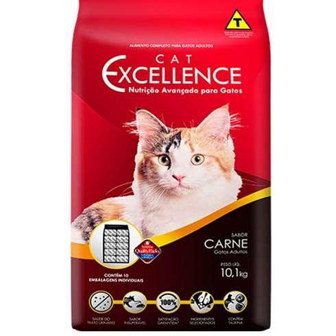 Ração Cat Excellence para Gatos Adultos - Carne 1 Kg