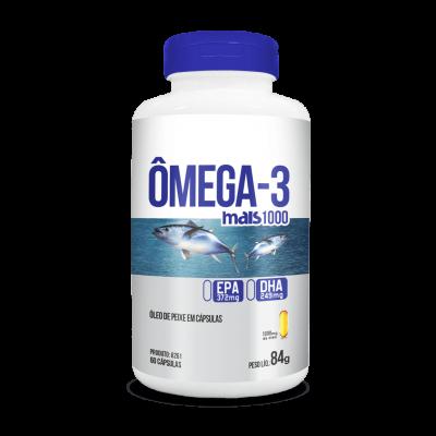 Cápsula omega-3 mais 1000 60 caps 84g