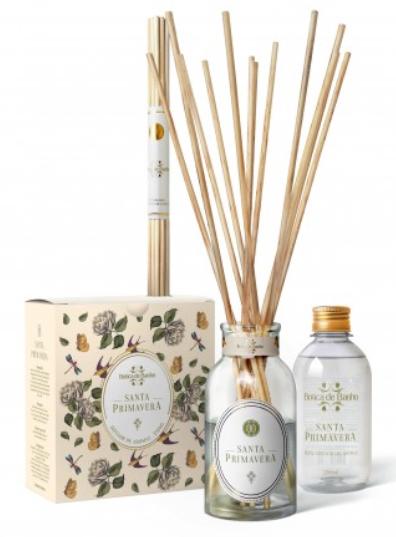 Kit Difusor de Aromas para ambiente Santa Primavera Botica de Banho 250 ml - Botica de Banho