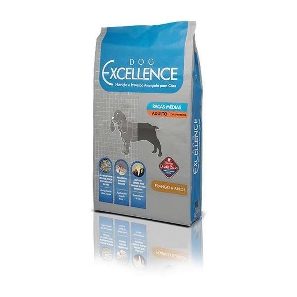Ração Selecta Dog Excellence para Cães Adultos de Raças Médias Frango e Arroz - Frango e Arroz - 2 Kg