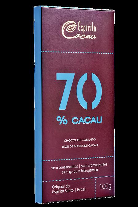 CHOCOLATE COM 70% DE CACAU - Espírito Cacau