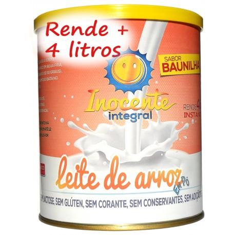 Leite de Arroz Em Pó Integral sabor baunilha - Inocente Leite sem Lactose