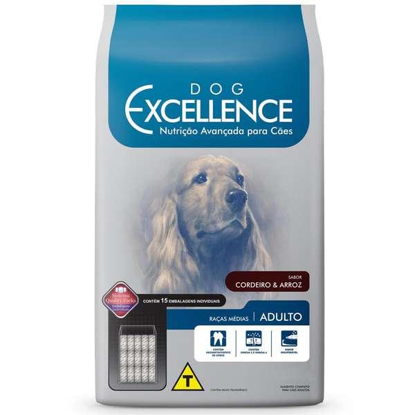 Ração Selecta Dog Excellence para Cães Adultos de Raças Médias - Cordeiro e Arroz - 15 Kg