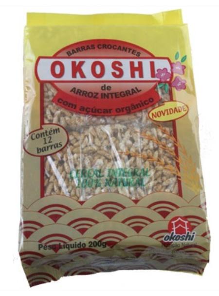 Barra de arroz integral com açúcar orgânico - Okoshi