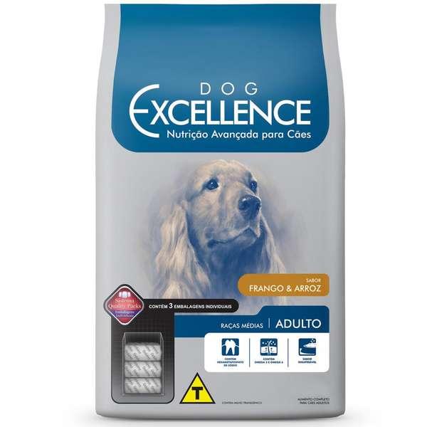 Ração Selecta Dog Excellence para Cães Adultos de Raças Médias - Frango e Arroz - 3 Kg