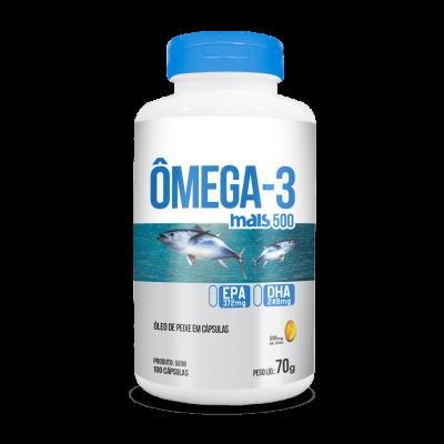 Capsula omega-3 mais 500 100 caps 70g - Chá Mais
