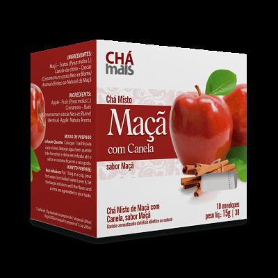 Chá Maça com Canela - Chá Mais - 10 Sachês 15g