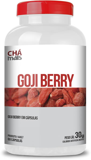 Goji Berry - 60 Cápsulas - Chá Mais